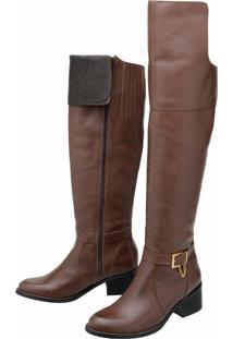 Bota Stevan Boots Over Knee Marrom
