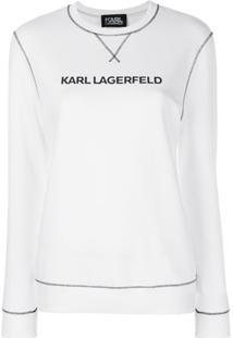 Karl Lagerfeld Blusa De Moletom 'Karl'S Essential' - Branco
