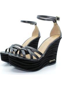 Sandália Barth Shoes Estrela Zebra Feminina - Feminino-Preto