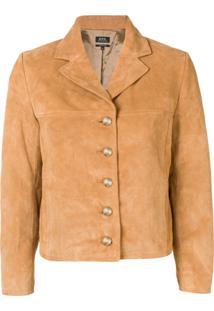 A.P.C. Cropped Jacket - Marrom