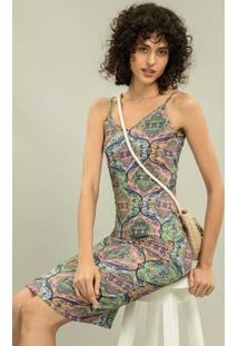 Vestido Com Alças Mídi Hippie - Lez A Lez