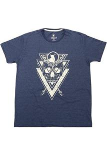 Camiseta Ellest Caveira - Masculino-Azul