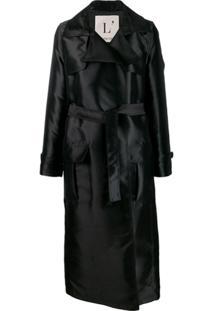 L'Autre Chose Trench Coat Com Cinto - Preto