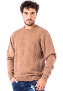 Blusa Tricot Carlan Brick Decote Redondo
