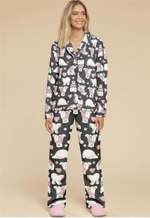 b35e41061 ... Pijama Soft Urso Feminino 014925 Mensageiro Dos Sonhos