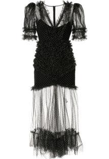 Alice Mccall Vestido Com Poás - Preto