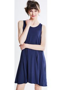Vestido Azul Marinho Basico feminino  0ce736b4d00