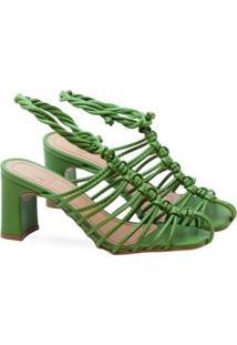 Sandália Saltare Bella Feminina - Feminino-Verde