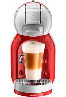 Cafeteira Expresso Arno Dolce Gusto Mini Me 110V Vermelha Automática Bebida Quente Ou Fria 1460W