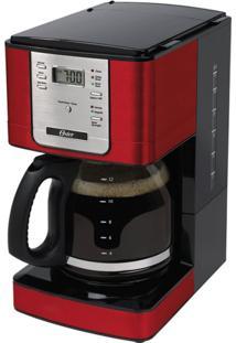 Cafeteira Oster Programável Vermelha 127V 1,8L Com Filtro Permanente