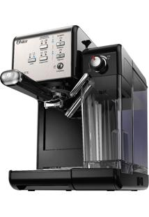 Cafeteiras Oster Primalatte Evolution 220V Prata E Preta 1170W E 19 Bars De Pressão