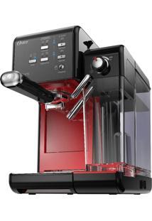 Cafeteiras Oster Primalatte Evolution 220V Preta E Vermelha 1170W E 19 Bars De Pressão