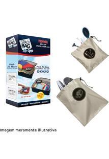 Kit Space Bag Travel 2 Unid. Necessaire 1 Unid. E Organizador De Sapatos 1 Unid.